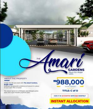 The Amari Garden, Okun Oje, Bogije.. 3mins to The Expressway, Bogije, Ibeju Lekki, Lagos, Residential Land for Sale