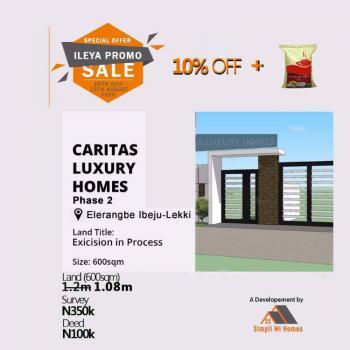 Land, Caritas Luxury Homes Phase 2, Eleranigbe, Ibeju Lekki, Lagos, Land for Sale