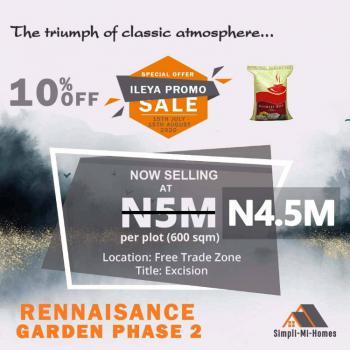 Land, Renaissance Garden Phase 2, Lekki Free Trade Zone, Lekki, Lagos, Land for Sale