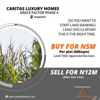 Land, Grace Factor Phase 4, Caritas Luxury Homes, Sangotedo, Ajah, Lagos, Land for Sale