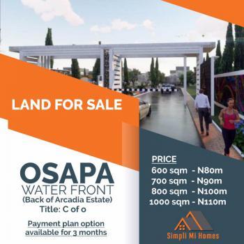 Water Front Land, Behind Arcadia Estate, Osapa, Lekki, Lagos, Land for Sale