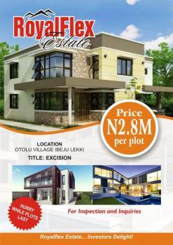 Fully Excised Serviced Plot, Royal Flex Estate, Otolu Village, Ibeju Lekki, Lagos, Residential Land for Sale
