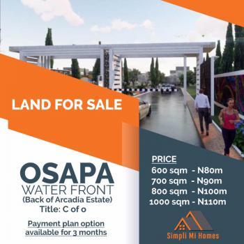Water Front View Land, Osapa, Lekki, Lagos, Residential Land for Sale