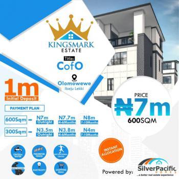 Land, Kingsmark Estate, Olomowewe, Ibeju Lekki, Lagos, Land for Sale
