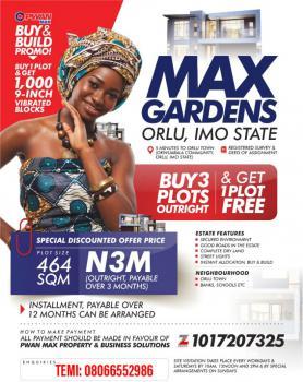 Estate Land, Max Gardens Estate, Orlu, Imo, Mixed-use Land for Sale
