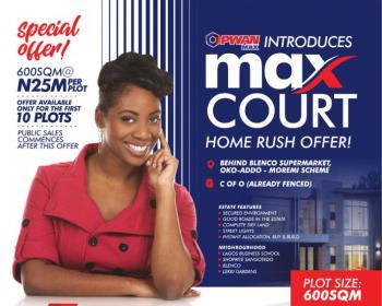 Max Courts Home Rush Offer!, Behind Blenco Supermarket, Oko-addo- Moremi Scheme., Sangotedo, Ajah, Lagos, Mixed-use Land for Sale