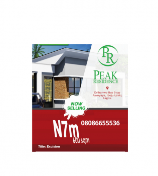 Dry Estate Land with Approved Excision, Ideal Investment, Lekki Phase 2, Lekki, Lagos, Residential Land for Sale
