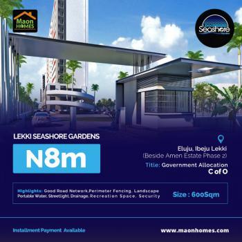 Government Allocation with C of O, Lekki Seashore Gardens, Eluju, Ibeju Lekki, Lagos, Residential Land for Sale