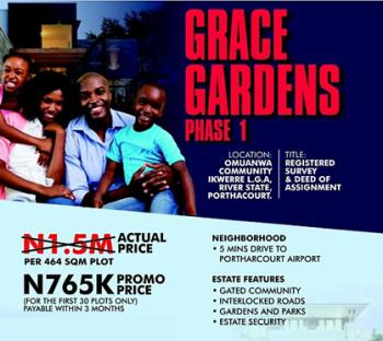 Land, Grace Gardens Estate, Port Harcourt, Rivers, Residential Land for Sale