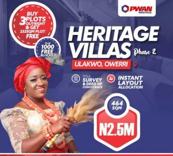 Heritage Villas Phase 2, (buy 3plots Get 1 Free), Owerri/ Aba Road Close to Sam Mbakwe Airport,, Ulakwo, Owerri North, Imo, Mixed-use Land for Sale