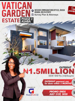 Classic Estate with Good Road Networks, Vatican Garden Estate, Asaba, Delta, Mixed-use Land for Sale
