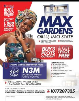 100% Dry Land in Serene Location, Orlu, Imo, Mixed-use Land for Sale