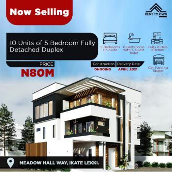 Elegantly Built Affordable 5 Bedroom Detached with Flexible 20 Years, Ikate Elegushi, Along Richmond Estate, Bella Court, Ikate, Lekki, Lagos, Detached Duplex for Sale