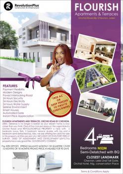 Flourish Estate 4 Bedroom with 18 Months Plan, Orchid Road, Chevron, Lekki, Lafiaji, Lekki, Lagos, Semi-detached Duplex for Sale
