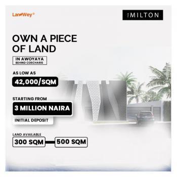 Land, The Milton, Behind Cocharis Motors, Awoyaya, Ibeju Lekki, Lagos, Residential Land for Sale