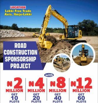 Land Sponsorship Deal, Road Construction Sponsorship Deal, Akodo Ise, Ibeju Lekki, Lagos, Land for Sale