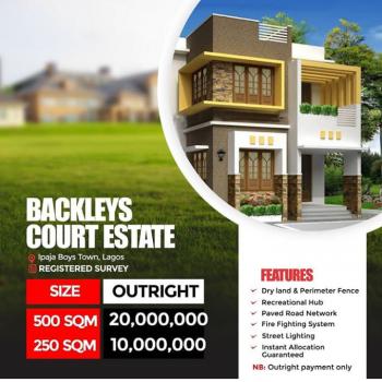 Land, Backlays Court, Ipaja Boys Town, Boys Town, Ipaja, Lagos, Residential Land for Sale