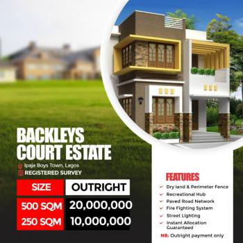 Land, Ayobo Ipaja Road, Backlays Court., Boys Town, Ipaja, Lagos, Residential Land for Sale