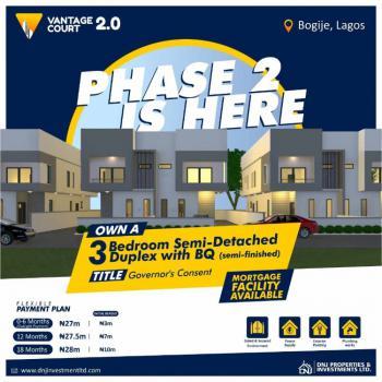3 Bedroom Semi Detached Duplex - Vantage Court, Richland Gardens Estate, Bogije, Ibeju Lekki, Lagos, Semi-detached Duplex for Sale