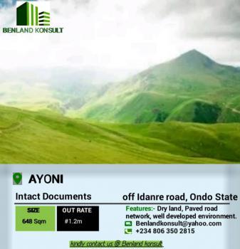 Land Property, Off Idanre Road, Akure, Ondo, Mixed-use Land for Sale