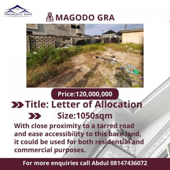 a Bare Land with Ease Accessibility and Good Road for Be Used 4 Mixed., Gra, Magodo, Lagos, Mixed-use Land for Sale