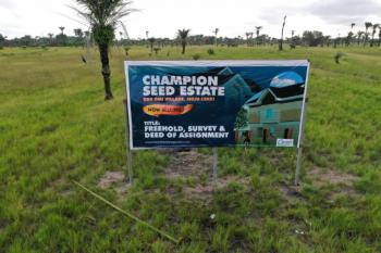 Get a Cheap Luxury & 100% Dry Land Within The Lagos Smart City, Located in a Serene Environment, After La Campaign Tropicana, Ode-omi, Ibeju Lekki, Lagos, Mixed-use Land for Sale