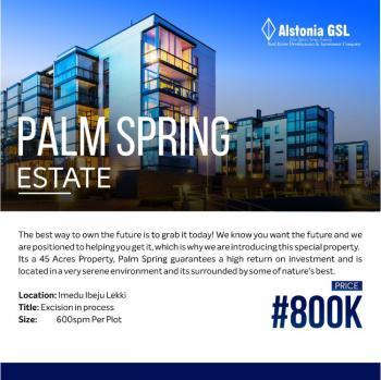 Most Affordable Land in a Serene Environment, Palm Spring Estate Imedu,ibeju Lekki, Akodo Ise, Ibeju Lekki, Lagos, Mixed-use Land for Sale