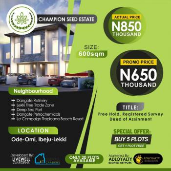 Buy 5 Plots and Get 1 Free, Ode-omi, Ibeju Lekki, Lagos, Mixed-use Land for Sale