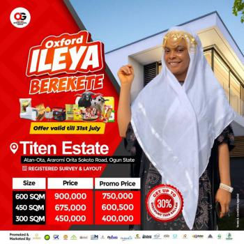 Land, Atan - Ota Orita Sokoto Road., Ado-odo/ota, Ogun, Residential Land for Sale