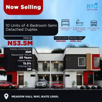 Most Affordable Quality House., Along Meadow Hall School, Opposite Horizon 2., Ikate Elegushi, Lekki, Lagos, Semi-detached Duplex for Sale