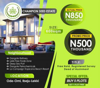 Estate Land, Ode Omi, Dangote Refinery, Seaport, Eleko, Ibeju Lekki, Lagos, Residential Land for Sale