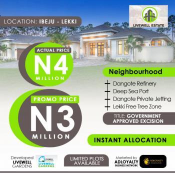 Fast Selling100% Dry Land (livewell Gardens), Eleko, Ibeju Lekki, Lagos, Residential Land for Sale