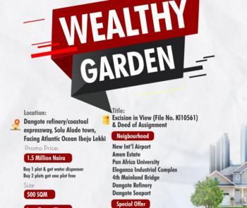 Estate Land., with Beachfront., Eleko, Ibeju Lekki, Lagos, Residential Land for Sale