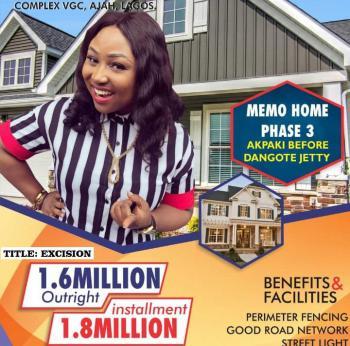 Estate Land, Close to Dangote Seaport, Eleko, Ibeju Lekki, Lagos, Residential Land for Sale