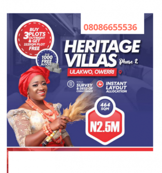 Estate Land, Owerri Onitsha Road 15 Minutes From Cathedral., Owerri, Imo, Residential Land for Sale