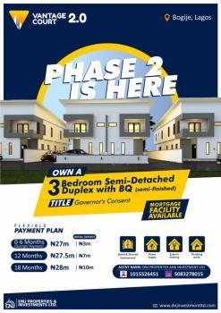 3 Bedroom Semi Detached Duplex., Vantage Court 2.0, Bogije, Ibeju Lekki, Lagos, Semi-detached Duplex for Sale