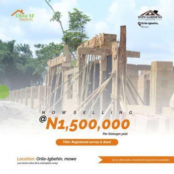 Registered Survey, Mowe Ibafo Orile Igbehin, Asese, Ibafo, Ogun, Residential Land for Sale