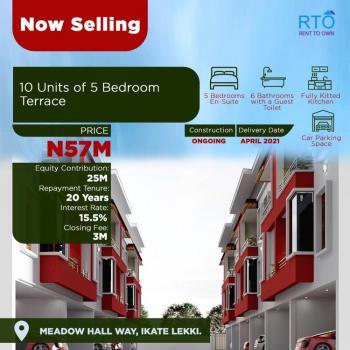 Luxurious 5 Bedroom Terraced Triplex in Prime Location, Behind Meadow Hall School Opposite Horizon 2 Estate, Ikate, Lekki, Lagos, Terraced Duplex for Sale