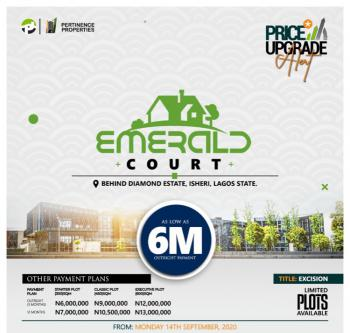 Half Plot with 3 Months Available., Emerald Court., Isheri, Lagos, Residential Land for Sale