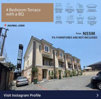4 Bedroom Terrace Duplex Plus Bq., Dilon Street., Agungi, Lekki, Lagos, Terraced Duplex for Sale