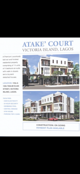 4 Bedroom Semi Detached Duplex., Teslim Elias Street, Victoria Island (vi), Lagos, Semi-detached Duplex for Sale