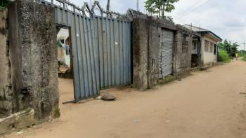 Well Located Plot of Land with 4 Self Contained Rooms, Conerstone Road, Uzuoba, Port Harcourt, Rivers, Residential Land for Sale