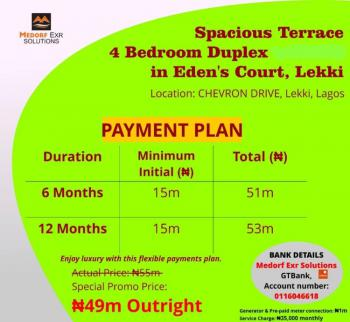 Finished Luxury 4 Bedroom Terrace Duplex, Lekki., Chevron Alternative Drive., Lekki Phase 2, Lekki, Lagos, Terraced Duplex for Sale