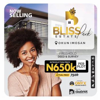 Bliss Park Estate, Ibeju Lekki., Okun Imosan, Ibeju Lekki, Lagos, Land for Sale
