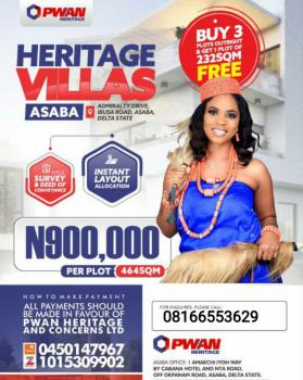Heritage Villa Estate., Admiralty Drive., Asaba, Delta, Mixed-use Land for Sale