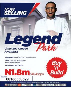 Land, Legend Park Estate Anambra, Anambra, Anambra, Mixed-use Land for Sale