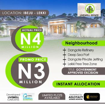 100% Dry Luxury and Exquisite Land with Close Proximity to Waterfronts, Lepia Town, in Between Dangote Refinery and La Campaigne Tropicana, Ogogoro, Ibeju Lekki, Lagos, Land for Sale