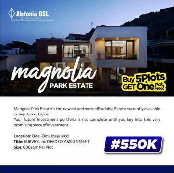 Magnolia Park Estate., Ode-omi Ibeju Lekki. 15 Minutes Drive From La Campaign Tropicana Beach, Orimedu, Ibeju Lekki, Lagos, Residential Land for Sale