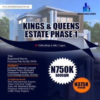 Plot of Land., Oriba Town Via 4th Mainland Bridge, Eleranigbe, Ibeju Lekki, Lagos, Residential Land for Sale