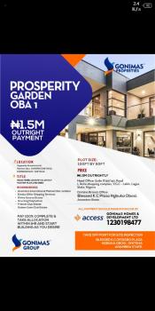 C of O Land, Prosperity Garden Opposite Anambra International Market Oba, Onitsha, Anambra, Residential Land for Sale